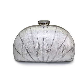 Lunar Silver Clutch Bag