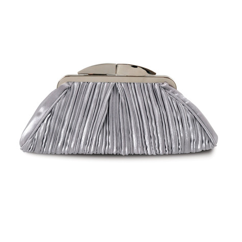 Lunar Grey Rippled Clutch Bag