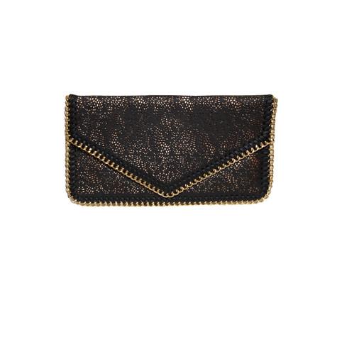 Papaya Black Chain Detail Bag