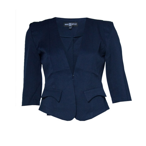 Marc M Angelo Short Navy Jacket | Pamela Scott