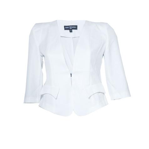 Marc M Angelo Short White Jacket | Pamela Scott