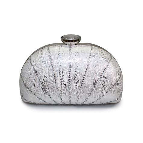 Lunar Silver Clutch Bag