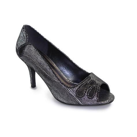 Lunar Black Peep Toe Court Shoe