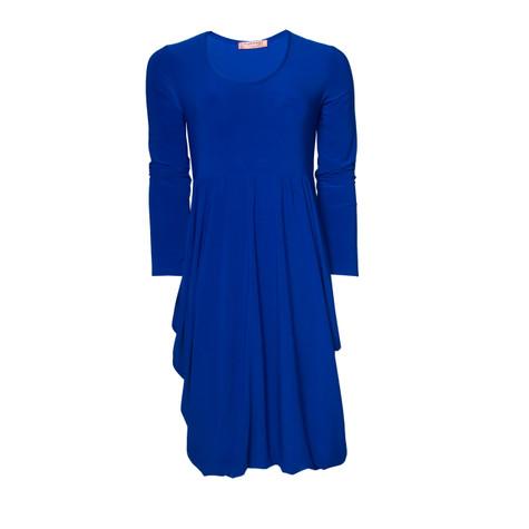 Flam Mode Plain Royal Blue Dress - Pamela Scott