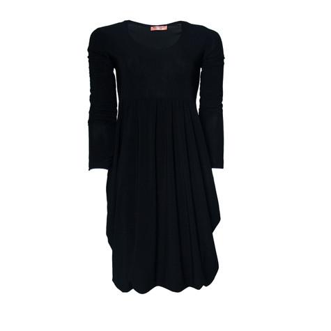 Flam Mode Plain Black Dress | Pamela Scott