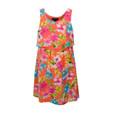 My Michelle Kids Sleeveless Orange Flower Print Dress