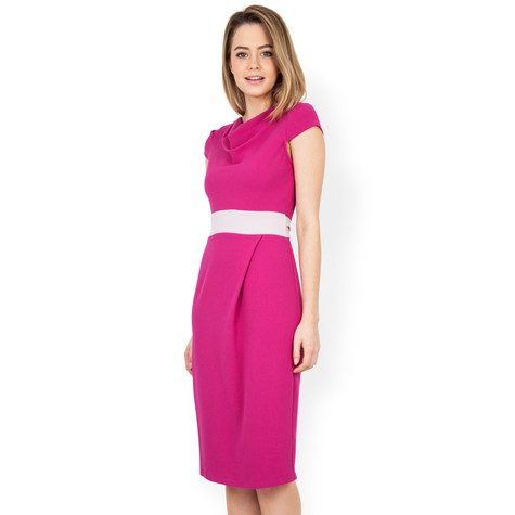 Closet Magenta Bow Back Dress