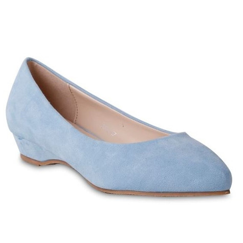 Belle Star Blue Low Wedge Slip-on Shoe