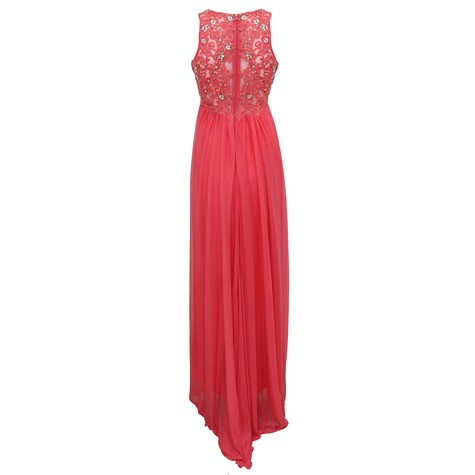 My Michelle Coral Lace Back Dress