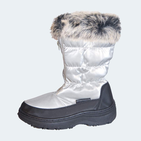Chamonix Ladies Sliver Snow/Winter Boot with Fun Fur