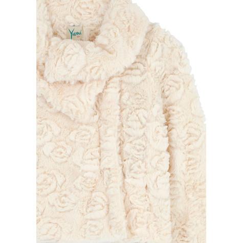 Yumi Girls Asymmetric Faux Fur Jacket   Pamela Scott