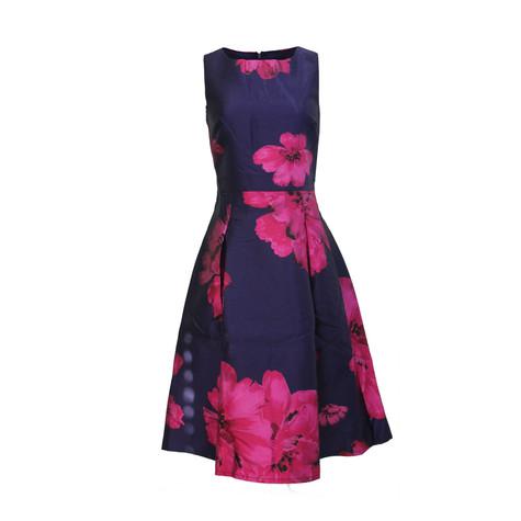 Zapara Purple &amp Red Print Dress  Pamela Scott