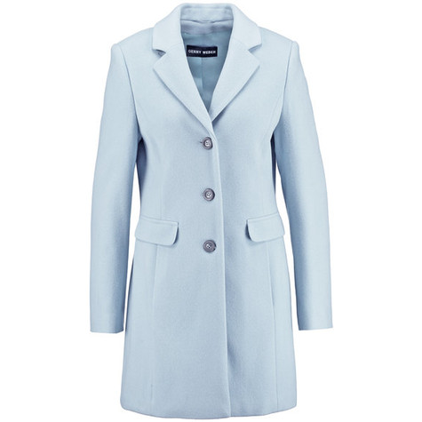 Gerry Weber Light Blue Long Wool Coat | Pamela Scott