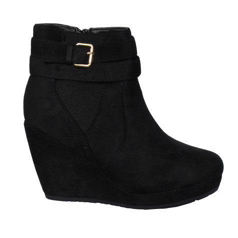 Chic Nana Micro Fibre Wedge Ankle Boot