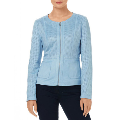 Gerry Weber Blue Suede Jacket