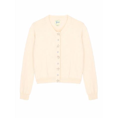 Yumi Girls Girls Embellished Button Cardigan In Baby Pink