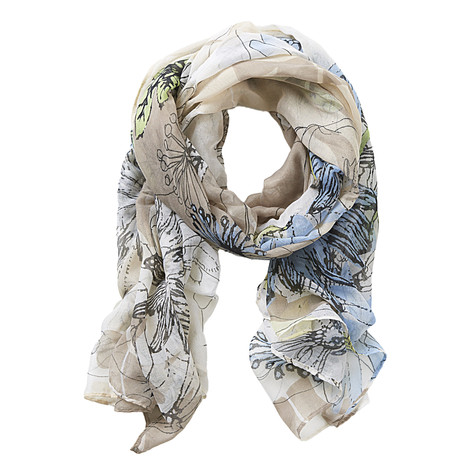 Off White Printed Scarf