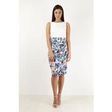 Closet Cream & Floral Print Dress