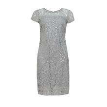 Scarlett Silver Lace Dress