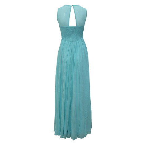 Max And Lola Mint Mesh Back Detail Long Dress
