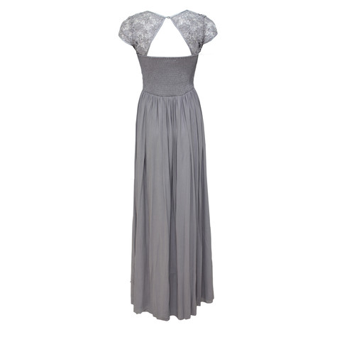 Max And Lola Silver Long Detail Dress