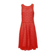 Zapara Coral Lace Skater Dress