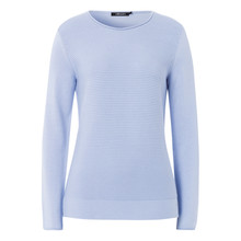 Olsen JUMPER RIBBED - LIGHT BLUE
