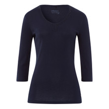 Olsen COTTON TOP EMBELLISHED - NAVY