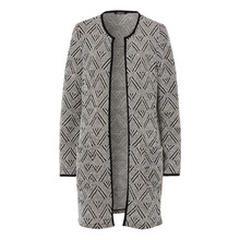 Olsen CARDIGAN PATTERNED - OFF WHITE