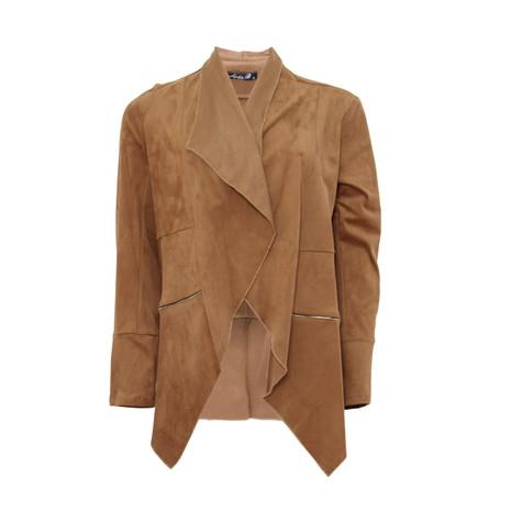SophieB Cognac Drape Jacket