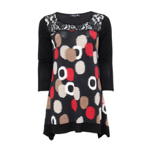 SophieB Black Circle Print Top