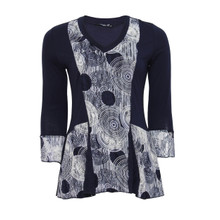 SophieB Navy Lace V-Neck Top