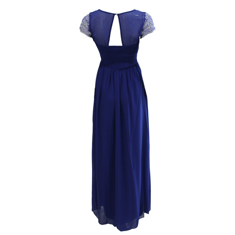 Max And Lola Royal Blue Silver Embellished Dress