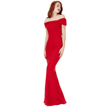 City Goddess Red Bardot Dress