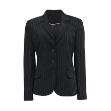 Gelco Black Pin Strip Blazer Jacket