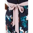 Closet Navy Floral Print Pleat Dress