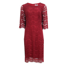 Zapara Bordeaux Lace Dress