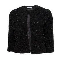 Zapara Black Boucle Glitter Jacket