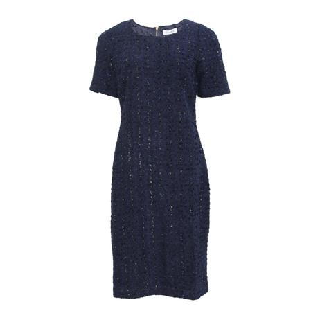 Zapara Midnight Exposed Zip Detail Dress