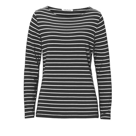 Betty Barclay Black White Stripe Round Neck Top