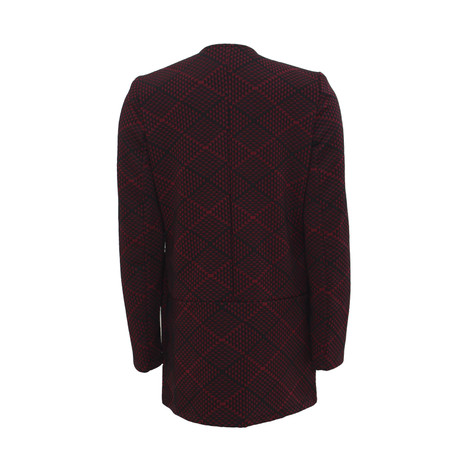 SophieB Bordeaux Round Neck Jacket