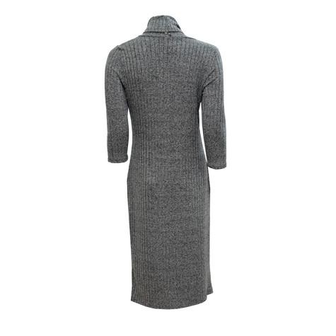 Twist Grey Easy Rib Comfy Dress