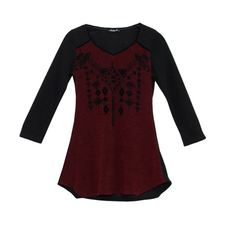 SophieB V-Neck Bordeaux Top