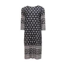 Twist Black Cream Print Dress