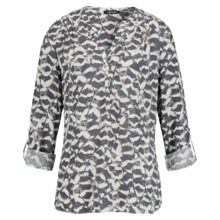 Olsen BLOUSE FEATHER PRINT - ANTHRA