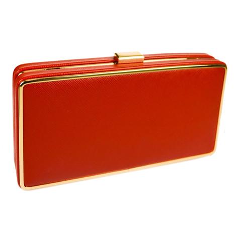 Dice Red Metal Frame Bag
