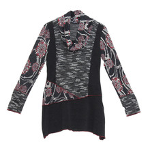 SophieB Black Multi Print Cowl Neck Knit