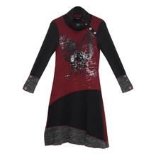 SophieB Bordeaux Cowl Neck Dress