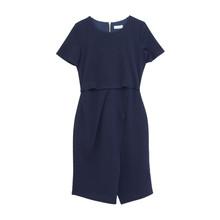 Zapara Navy Exposed Zip Dress
