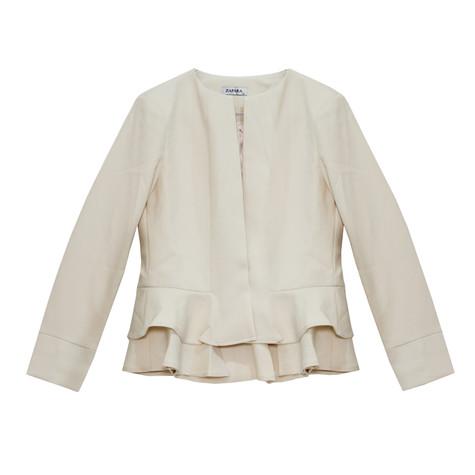Zapara Cream Short Crop Jacket